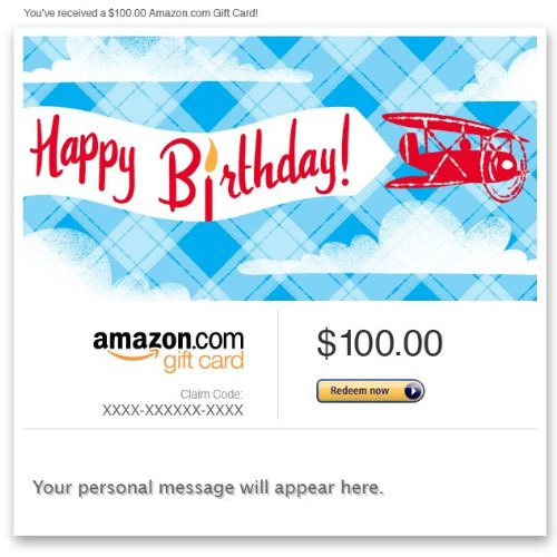Amazon Gift Card E Mail Happy Birthday Airplanes