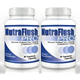 NUTRAFLUSH PRO (2 Bottles) - Complete Colon Cleanser and Full Body Detox Cleanse Supplement. 60 Capsules ~ Nutraflush Pro
