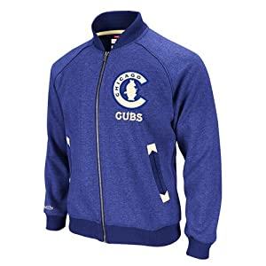 MLB Chicago Cubs Intrasquad Track Jacket Mitchell Ness Cooperstown Mens Small by Mitchell & Ness