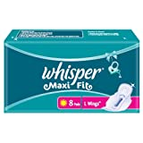 Whisper Maxi Fit - 8 Pads (L Wings)