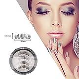 Magnetic Eyelashes 6D False Eyelashes Natural Beauty No Glue Reusable Fake EyeLashes Extension Handmade (full eye 4 pieces)