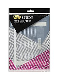 Post-it Study Pockets Insert into Three Ring Binders/Stick Securely and Remove Easily
