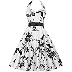 Modebewusstsein wirklich 360 weiten Rock Sommerkleid Picknick kleid L