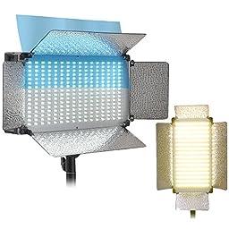 AW Photo 700pcs LED Bi-Color Light Panel Kit Photography Video Studio Lighting Dimmable 3200K-5500K