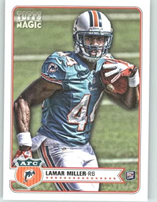 2012 Topps Magic Football Card # 82 Lamar Miller RC - Miami Dolphins (RC - Rookie Card) NFL Trading Cards