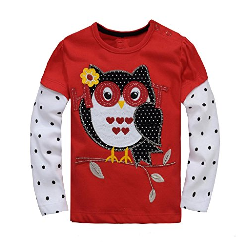 Baby Box Little Girls' kids long sleeve T-Shirts Size 6