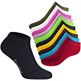 10 Paires de chaussettes sNEAK iT! baskets pour homme et femme plusieurs couleurs et tailles au choix - 35-50 celodoro de qualité