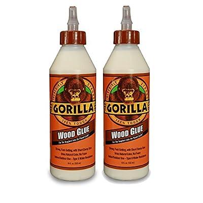 Gorilla Glue 6205001 Wood Glue Bottle, 18 Ounce