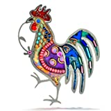 Seeka Brilliant Rooster Pin from The Artazia Collection P0826