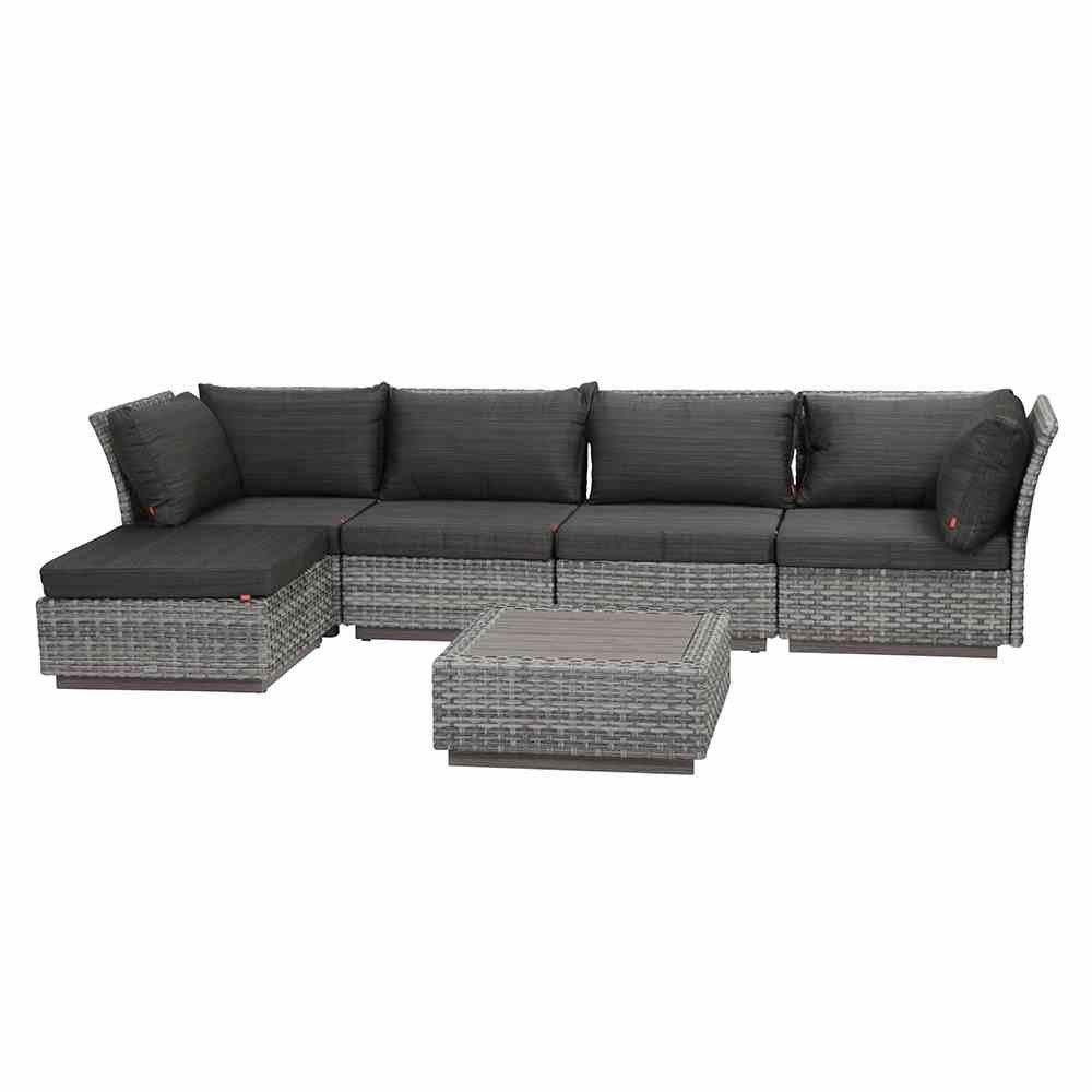 Siena Garden Gartenmöbel Soreno Set inklusive Kissen, 6-teilig, aluminiumgestell, grau