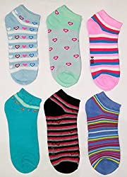 Camey Women's Striper Ankle Multicolor Socks (Pack of any 6)