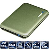 Sabrent Ultra Slim USB 3.0 To 2.5-Inch Sata Aluminum Screwless Hard Drive Enclosure Green (EC-RDGN)