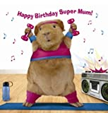 Happy Birthday Super Mum Guinea Pig Keep Fit Card