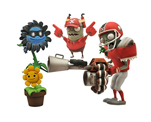 Diamond Select Toys Plants vs. Zombies Garden Warfare: All-Star Football Zombie vs. Shadow Flower Select Action Figure