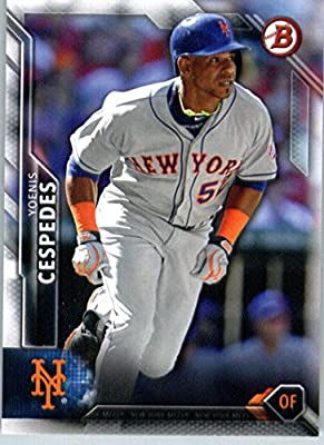 2016 Bowman #55 Yoenis Cespedes New York Mets Baseball Card