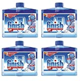 4 x Finish Dishwasher Cleaner Liquid 250ml Intensive Clean & Care