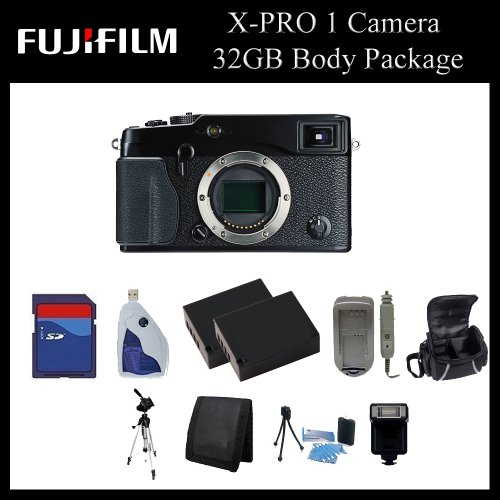 Fujifilm X-Pro 1 Digital Camera (Body Only) - 16225391 - 32GB Digital Camera Body Package