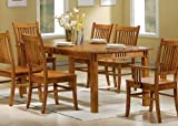 Coaster Mission Style Dining Table Medium Brown Solid Picture