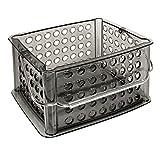 mDesign Small Circles Storage Basket, Organize Kitchen, Bathroom, Closet, Office - Earth Gray