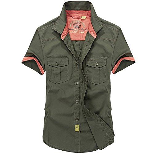 AFS JEEP -  Camicia Casual  - Uomo armée verte 3 Mesi