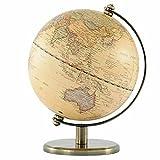 インテリア地球儀 英語表記 時差表示板付き 書斎 オシャレ 知的 大人のインテリア アンティーク 〔小〕