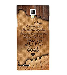 Love Exist Quote 3D Hard Polycarbonate Designer Back Case Cover for Micromax Canvas Xpress A99