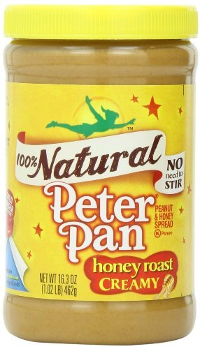 Peter Pan, 100% Natural, Honey Roast Creamy Peanut Butter, 16.3oz Jar (Pack of 3) (Peanut Butter Peter Pan Honey compare prices)