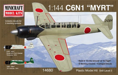 Minicraft Nakajima Myrt IJN with 2 Marking Options Model Kit, 1/144 Scale