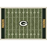 NFL Homefield Green Bay Packers Football Rug Size: 10'9