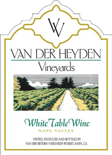 Nv Van Der Heyden Vineyards Napa Valley White Table Wine 750 Ml