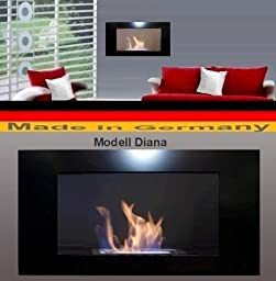 Gel + Ethanol Fire-Places Diana Deluxe Fireplace Stove Black