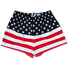 Womens American Flag 50/50 Flag Track Shorts