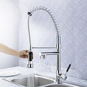 amzdeal® AKA Armatur Wasserhahn ausziehbar schwenkbar Spültisch Chrome (AKA1)  BaumarktKundenbewertung und Beschreibung
