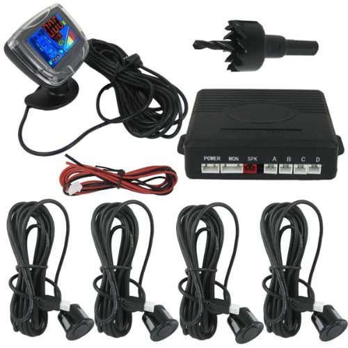 Dual CPU Car Parking Sensor System with LCD Monitor and Step-up Alarm Weatherproof Sensor