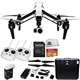 DJI Inspire 1 with Dual Remotes EVERYTHING YOU NEED Kit Includes SanDisk Extreme Plus 32GB UHS-I/ U3 Micro SDHC Memory Card (SDSDQX-032G-U46A) + DJI TB47 Intelligent Flight Battery + DJI 1345 Self-Tightening Props + High Speed Memory Card Reader + Microfiber Cleaning Cloth