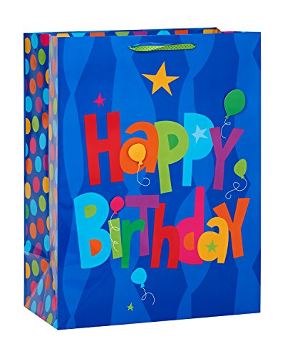 American Greetings Jumbo Birthday Gift Bag, Blue Happy Birth