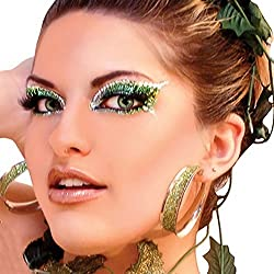 ENVY Xotic Eyes Green Glitter Professional Make Up Dancer Costume St Patricks Day