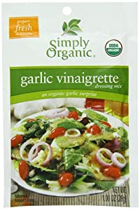 Simply Organic Salad Dressing Mix, Garlic Vinaigrette, (Pack of 12)