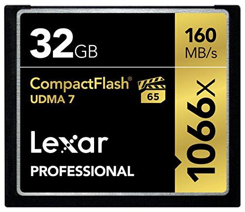 Lexar Professional 32 Go Carte mémoire CompactFlash UDMA 7 1066x LCF32GCRBEU1066