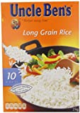 Uncle Ben's Long Grain Rice 2 kg (Pack of 6)