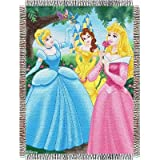 Disney, Princesses, Walk in the Park 48-Inch-by-60-Inch Acrylic Tapestry Throw by The Northwest Company