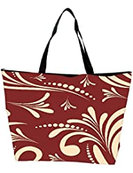 Snoogg Seamless Floral Pattern Abstract Background Waterproof Bag Made Of High Strength Nylon - B01I1KJZJW