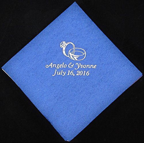 50 personalized beverage napkins wedding favors custom printed napkins