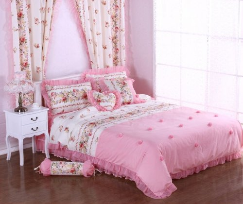 Shabby Chic Pink Bedding 170128 back