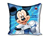 "Disney Mickey and Friends Satin Polyester Cushion Cover - 16""x16"", Blue"