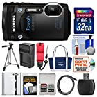 Olympus Tough TG-860 iHS Wi-Fi GPS Shock & Waterproof Digital Camera (Black) with 32GB Card + Case + Battery/Charger + Tripod + HDMI + Float Strap Kit