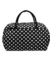 Womens 21 Inch Black White Polka Dot Holdall Weekend Maternity Hospital Gym Baby Sports Bag