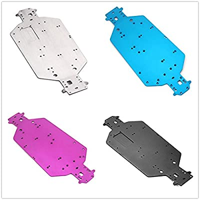 Kalevel Aluminum Alloy Rc Car Chassis Plate Buggy Chassis Rc Car Repair Kit Replacement Parts 04001 Chassis Off-road Truck Rc Car Chassis 1:10 HSP 94107 94110 94115