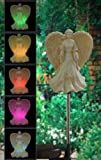 "Color Changing Angel Solar Powered 32"" Garden Yard Stake"