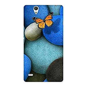 Pebbls and Butterfly Back Case Cover for Sony Xperia C4